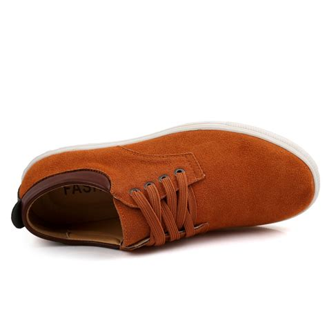 Comfortable Leather by S Suede Leather Comfortable Casual Shoes Big Size
