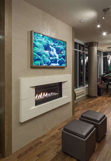 Tv On Wall Fireplace by Fireplace And Tv On He Same Wall Fireplace With No