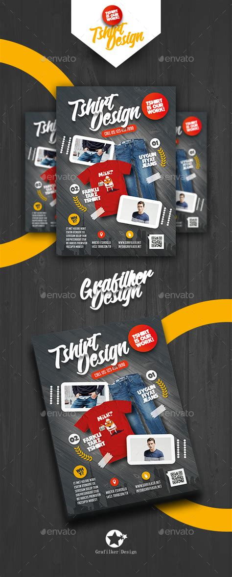 T Shirt Shop Flyer Templates By Grafilker Graphicriver Apparel Flyer Templates