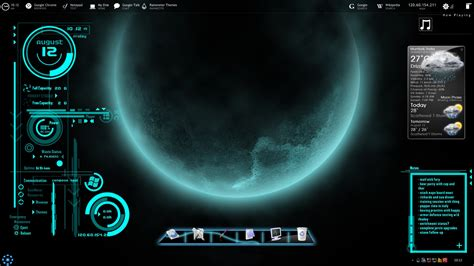 jarvis theme for windows 7 rainmeter futuristica rainmeter skin for windows 7