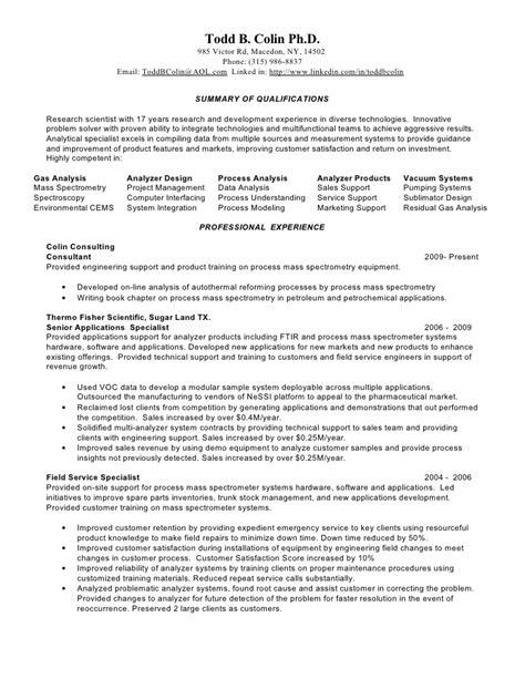 resume todd b colin