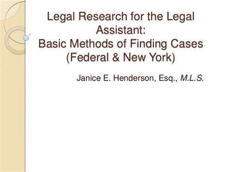 new york legal research findlaw legal research for the legal assistant basic methods of