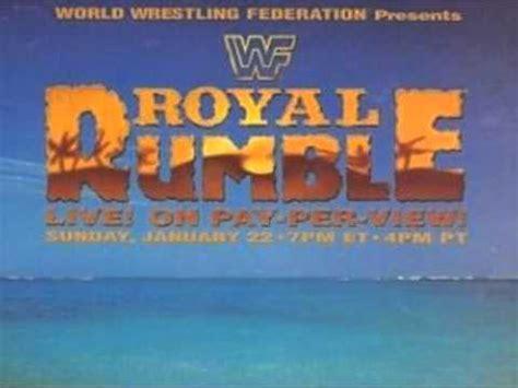 E M O R Y Ellionis wwf royal rumble 1995 theme song
