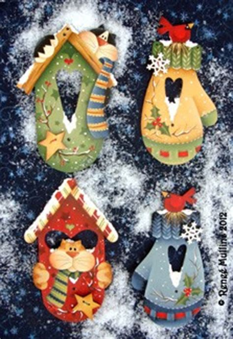 tole painting christmas ornament patterns renee mullins winter home ornaments packet