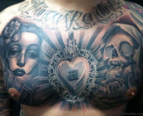 tattoo on chest 69 cool chest tattoos