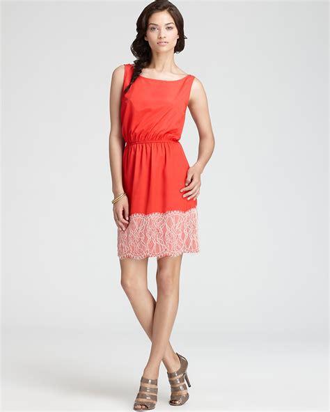Cutlery Set Aqua Cinch Waist Dress Lace Applique Bloomingdale S