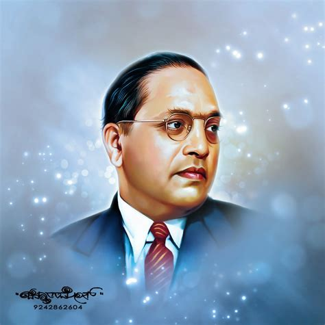 Dr Br Ambedkar Open Mba by Chitthara Digital Paintings Dr B R Ambedkar