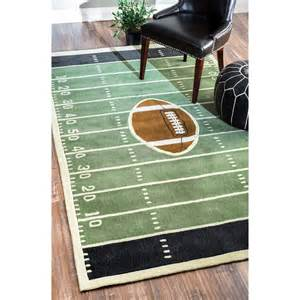 Football Field Rug Nuloom Handmade Football Field Green Rug From Overstock