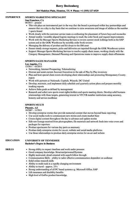 sports resume template sports resume sles velvet