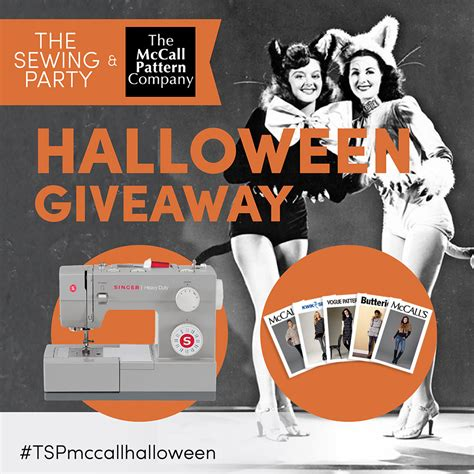 Halloween Giveaways - win a sewing machine and patterns in the mccall pattern company x singer halloween