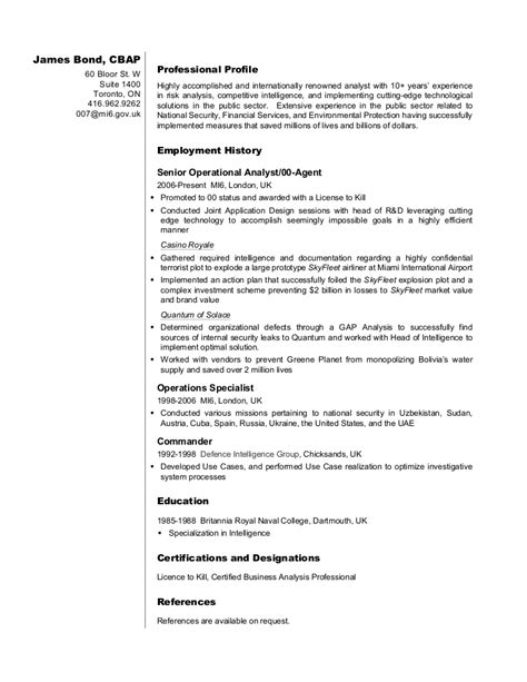resume format for business analyst military bralicious co