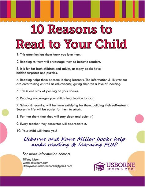 Top 10 Activities With Your Infant by Reading To Your Child Is So Important Usborne Books And
