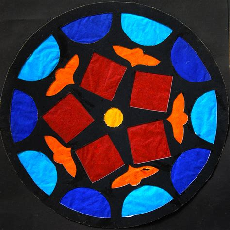 create a stained glass rose window activity education com