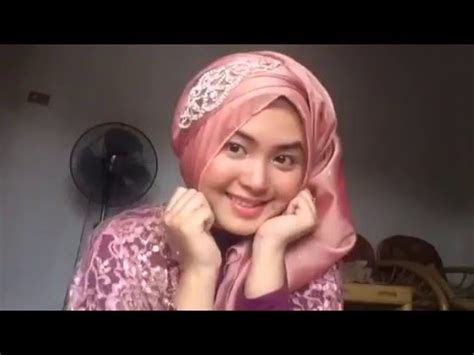 video tutorial hijab kondangan 1 tutorial hijab wisuda pesta kondangan pashmina simple