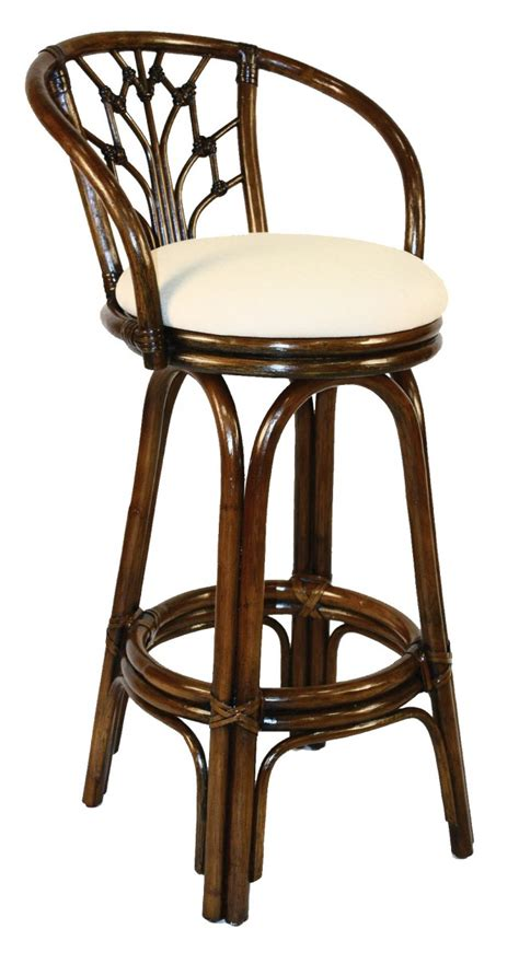 Rattan Swivel Counter Stools by Bali Indoor Swivel Rattan Wicker 24 Quot Counter Stool In