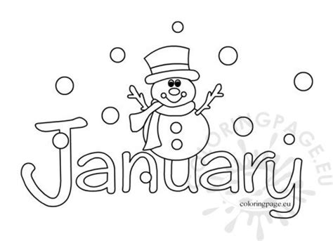 january coloring pages winter coloring page