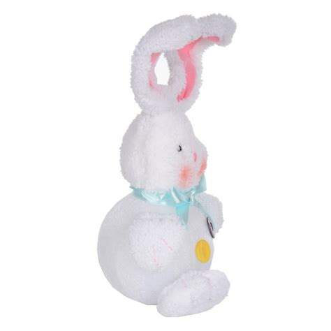 13 quot light up flashing white pink fluffy bunny rabbit