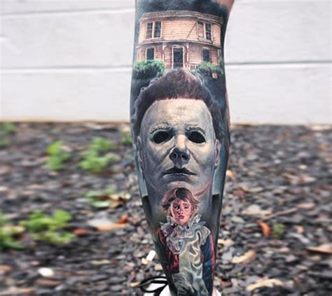 michael myers tattoos michael myers from by paul acker