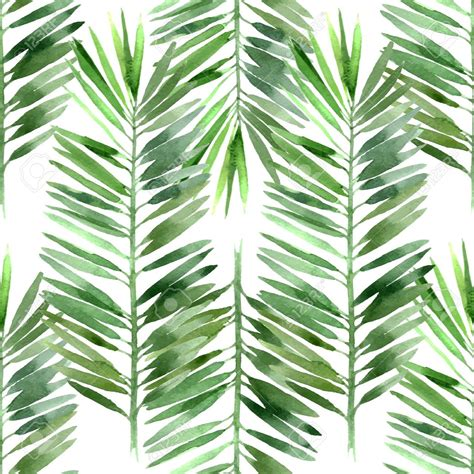 free printable palm leaves papier peint watercolor palm tree leaf seamless tropical