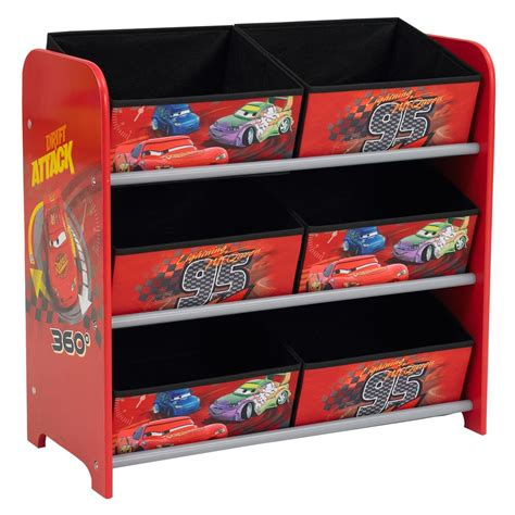disney cars 6 bin storage unit bedroom furniture ebay