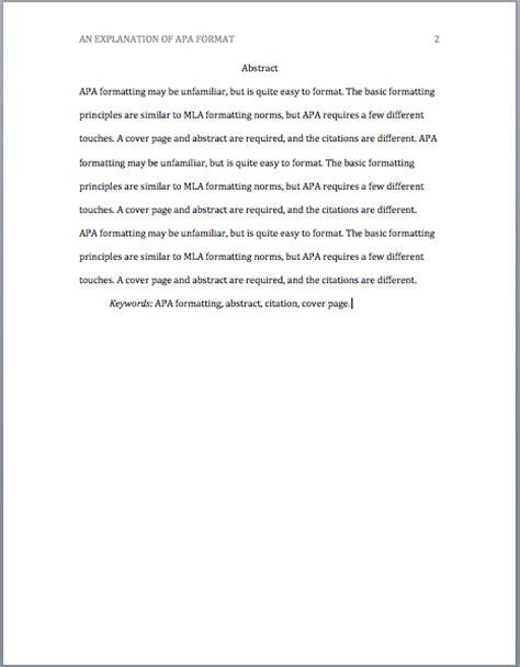 apa abstract template 187 apa format valparaiso writing center