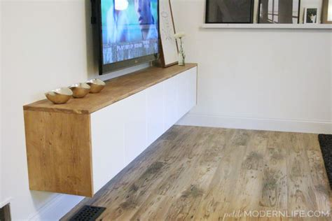 floating besta 5 diy tv stands that hide ugly cable boxes and wires