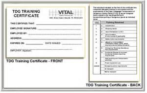 tdg shipping document template vital safety ltd 1