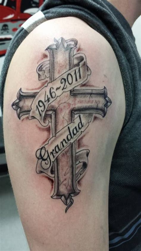 memorial tattoo designs for men 25 best ideas about cross on cross