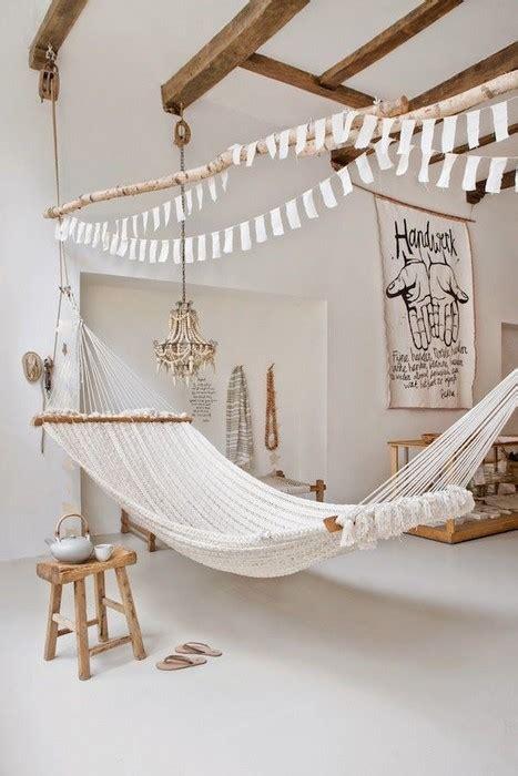 Indoor Hammock Hanging Ideas by 23 Interior Designs With Indoor Hammocks Messagenote