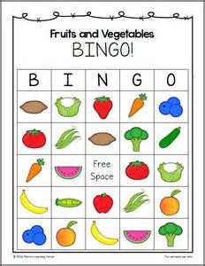 Fruits and vegetables bingo mamas learning corner