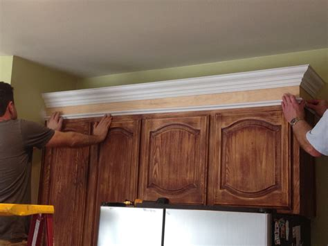 crown molding on top of cabinets kitchen installing crown molding on crown molding