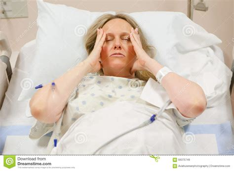 cancer woman in bed woman in hospital stock photo image 56375749