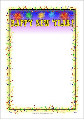 new year printable border happy new year a4 page borders sb3590 sparklebox