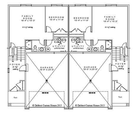 twin house plans twin home floor plans