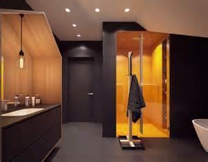 exceptional Cabine De Douche Haut De Gamme #2: salle-bain-noir-blanc-haut-de-gamme-cabine-douche-jaune.jpg