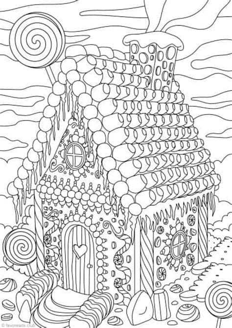 A House Coloring Page by Gingerbread House Favoreads Netflix For Coloring Addicts