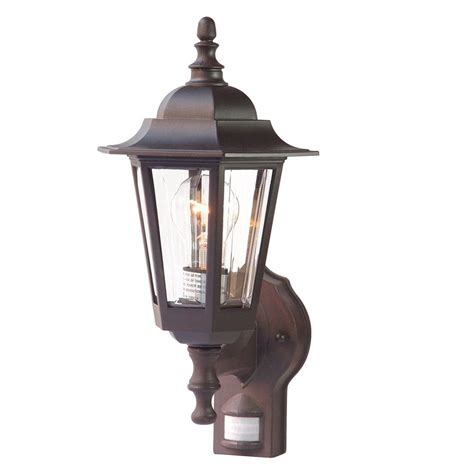 Outdoor Lighting Motion Activated Shop Acclaim Lighting Tidewater 15 25 In H Architectural Bronze Motion Activated Outdoor Wall
