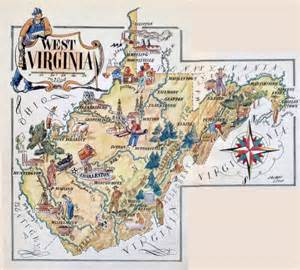 Virginia Tourism Map by Large Tourist Illustrated Map Of West Virginia State