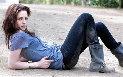 creative wallpaper girl jeans kristen stewart hot in jeans and t shirt new hd