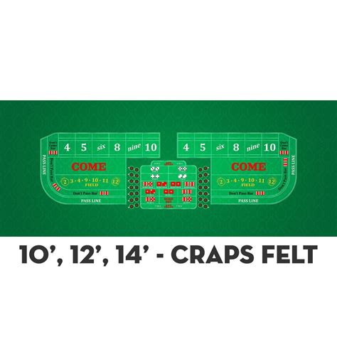 craps table dimensions classic craps layout green casino supply