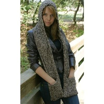 free knitting pattern hooded scarf pockets knitting cowl scarves styloss com