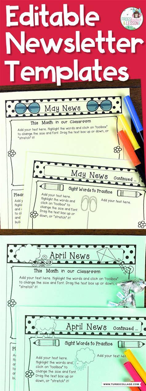 newsletter template polka dots classroom newsletter