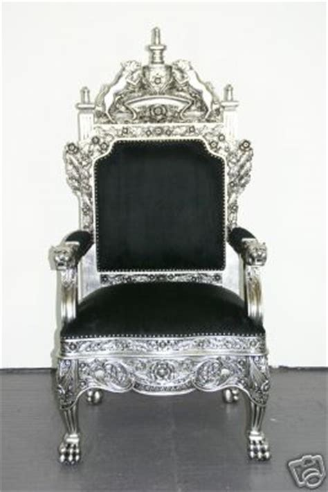 Royal Throne Chair by The Tudor Royal Throne Chair In Silver And Black