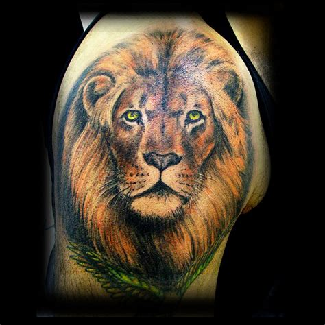 new lion head tattoo design idea