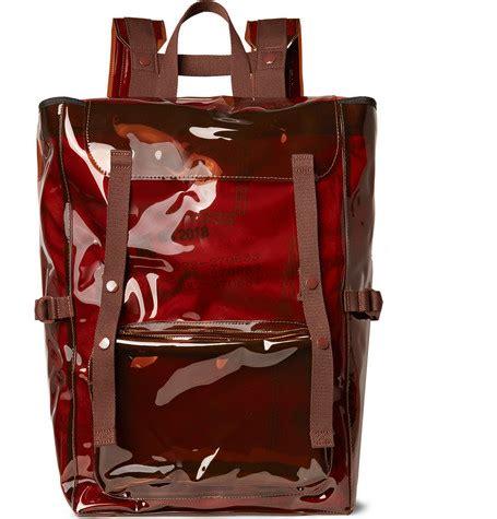 shoptagr eastpak webbing trimmed pvc backpack by raf simons