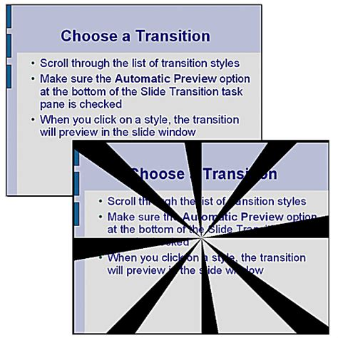 slide transition dictionary definition slide transition free tutorials on how to use openoffice impress