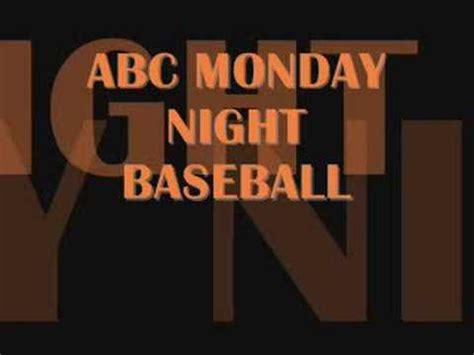 theme songs baseball abc s monday night baseball theme song youtube