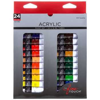 acrylic paint and supplies 24 color acrylic paint set hobby lobby 637082