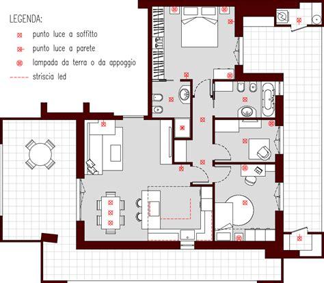 punto luce illuminazione progetto 85 mq architettura a domicilio 174