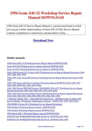 service repair manual free download 1994 chevrolet 1500 electronic throttle control 1994 genie z45 22 workshop service repair manual by lan huang issuu